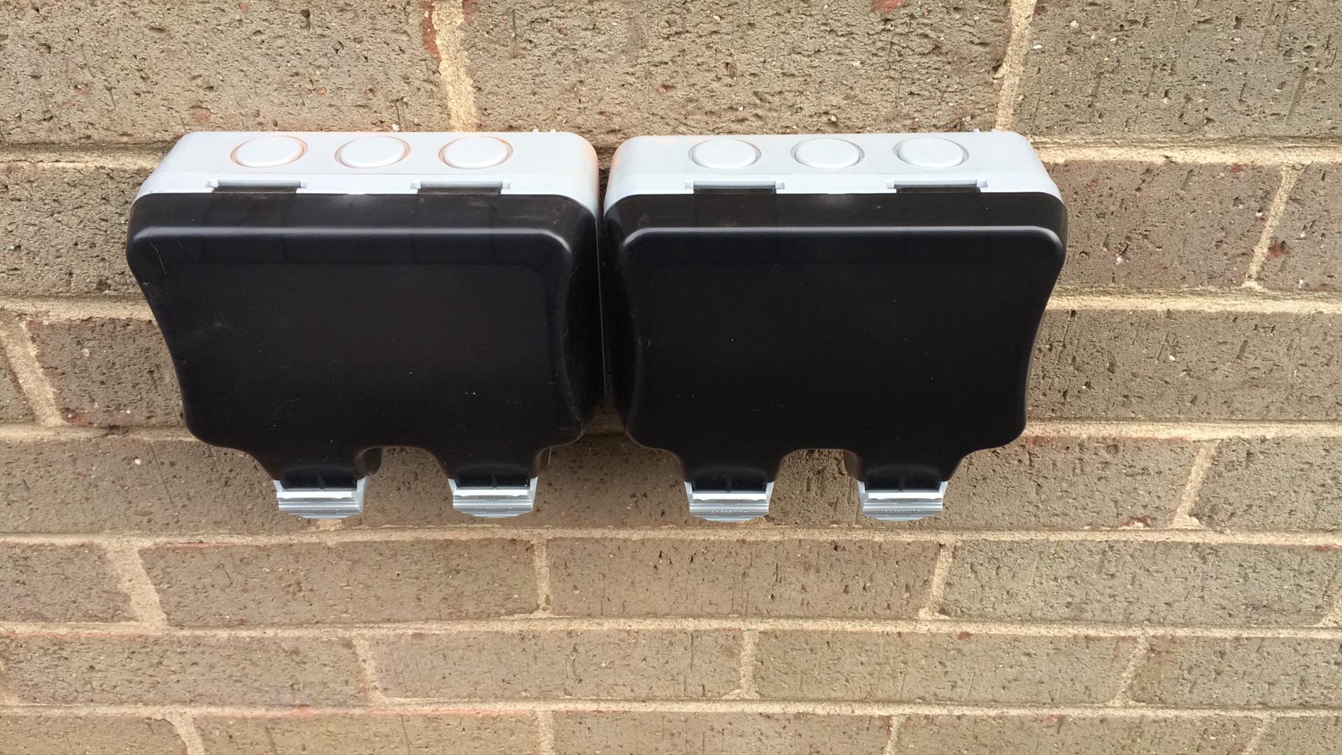 New IP66 waterproof sockets installed
