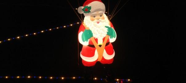 Santa on Parachute