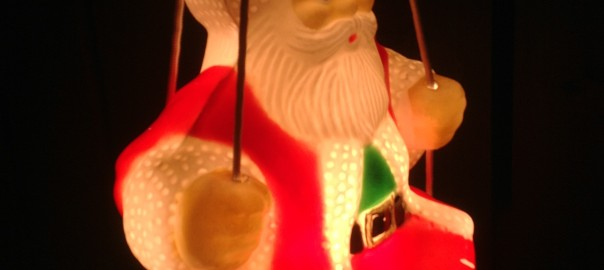 Santa on Swing Blow Mould