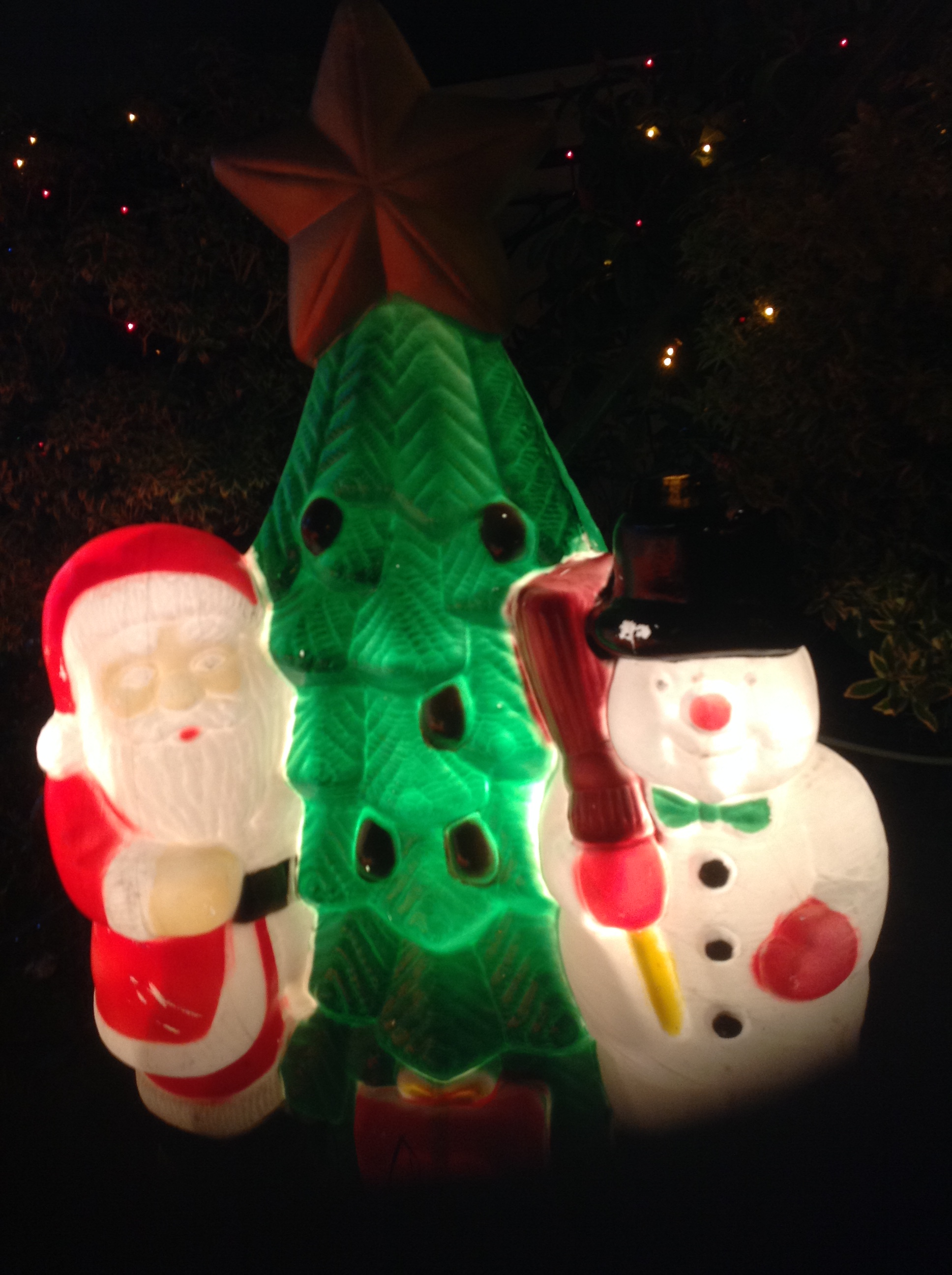 Santa, Snowman and Tree