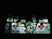 Garage Roof Snowman Family