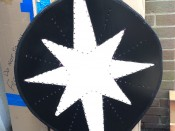 Spray-Painting the star