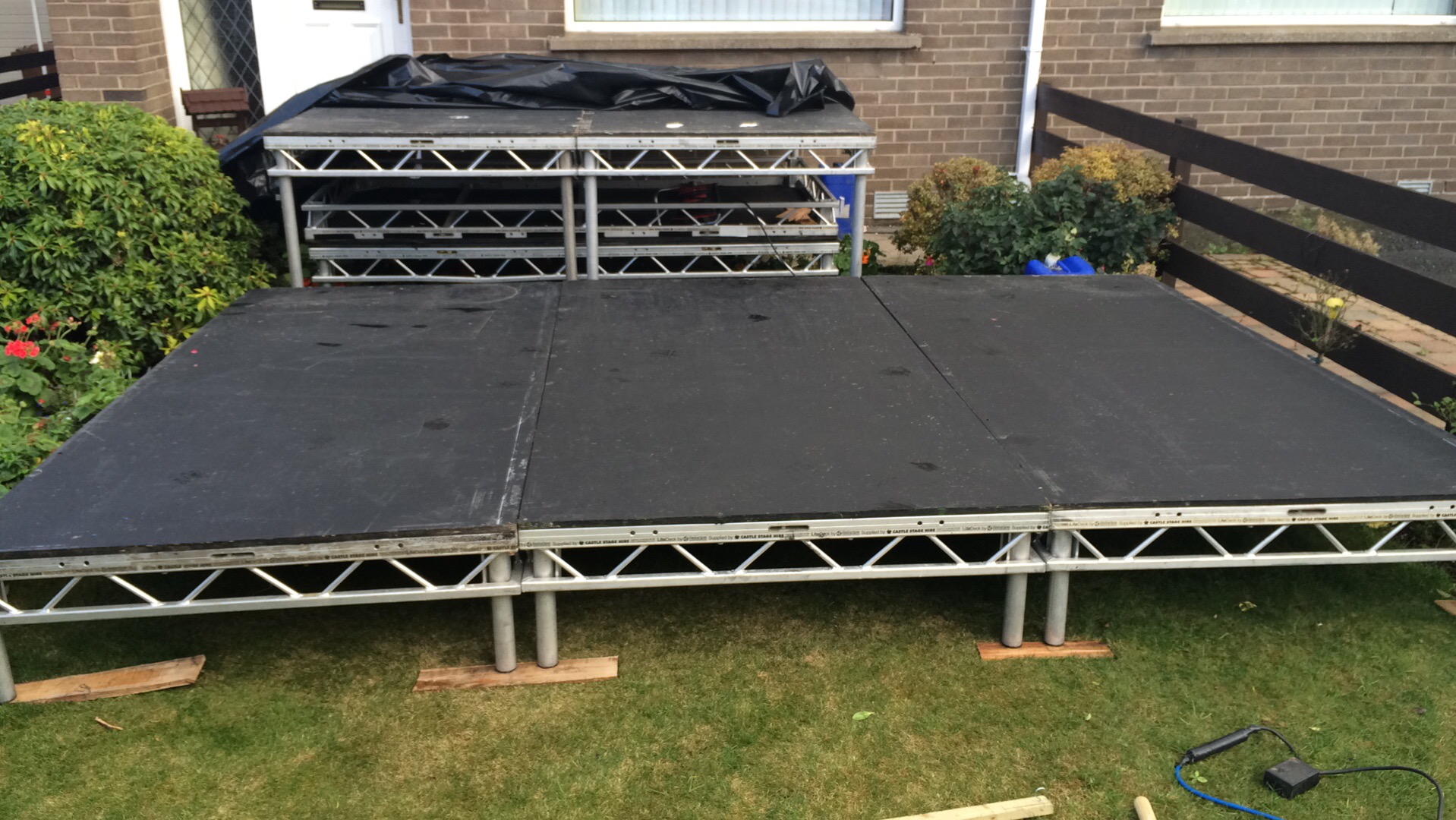 8ftx4ft platforms in place