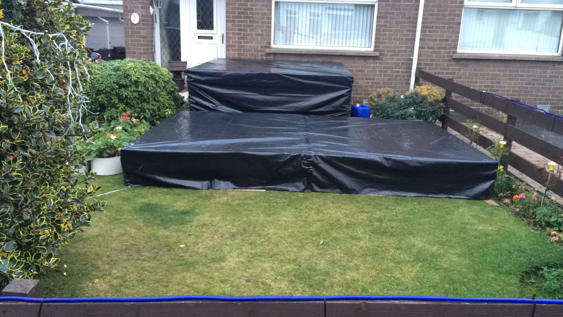 8ftx4ft platforms covered for weather protecting